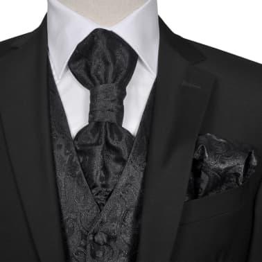 d118378d094 Meeste mustriline vesti komplekt suurus 48 must | vidaXL.ee