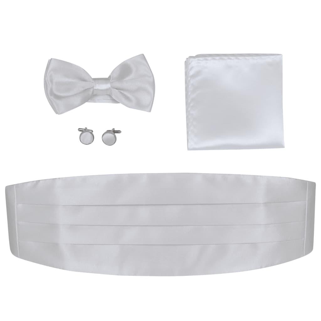 vidaXL Pánský smokingový pás, motýlek a doplňky bílá