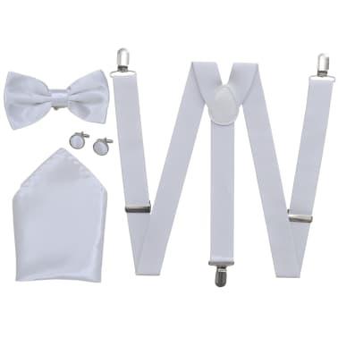 Set de bretelles et nœud papillon de Cravate noir/Tuxedo Homme Blanc[1/2]