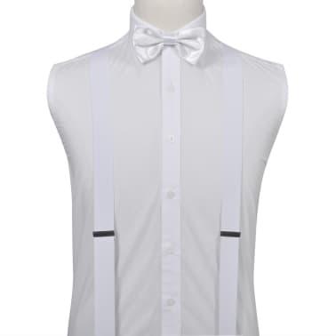 Set de bretelles et nœud papillon de Cravate noir/Tuxedo Homme Blanc[2/2]