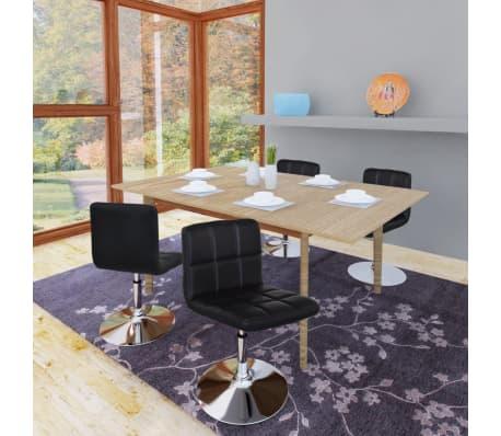 vidaxl esszimmerst hle 4 stk h henverstellbar drehbar schwarz g nstig kaufen. Black Bedroom Furniture Sets. Home Design Ideas