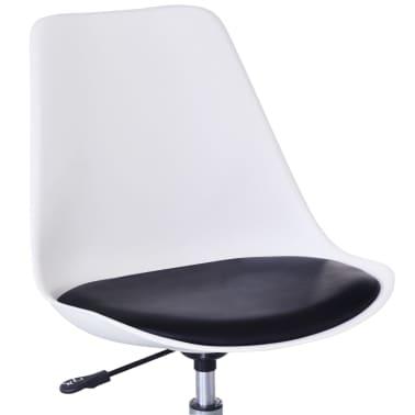 vidaXL spisebordsstole 2 stk. højdejustérbar drejelig hvid og sort[5/6]