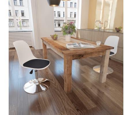 vidaXL spisebordsstole 2 stk. højdejustérbar drejelig hvid og sort[1/6]