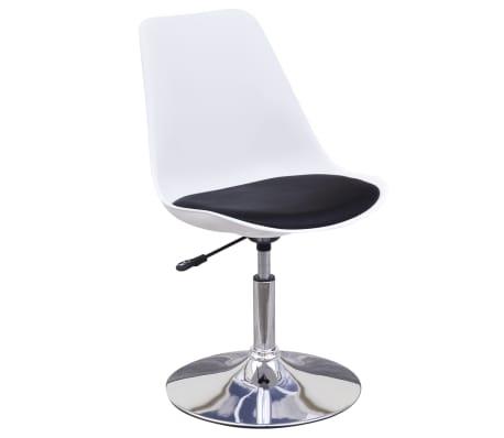 vidaXL Chaise de salle à manger 4 pcs Réglable Blanc et noir[3/6]