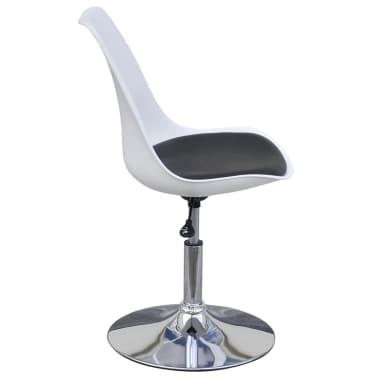 vidaXL Chaise de salle à manger 4 pcs Réglable Blanc et noir[4/6]