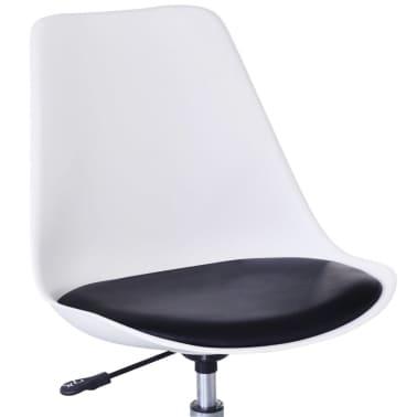 vidaXL Chaise de salle à manger 4 pcs Réglable Blanc et noir[5/6]