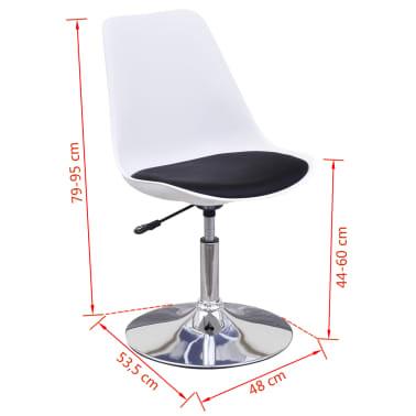 vidaXL Chaise de salle à manger 4 pcs Réglable Blanc et noir[6/6]
