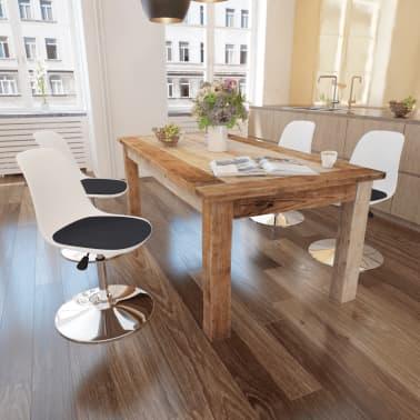vidaXL Chaise de salle à manger 4 pcs Réglable Blanc et noir[1/6]