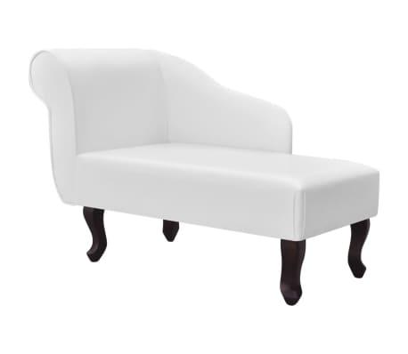 vidaXL Chaise longue Blanc Similicuir
