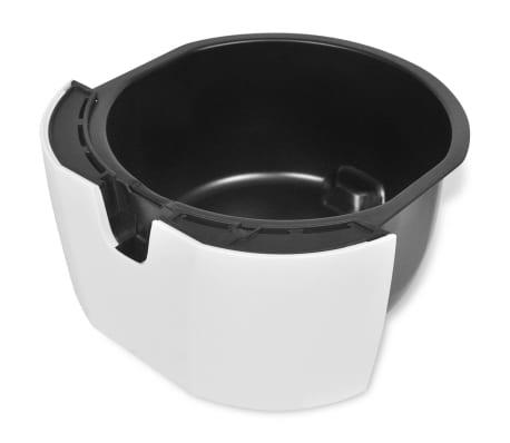 vidaXL Horkovzdušná fritéza / beztukové vaření 3,5 l nerez bílá[6/8]