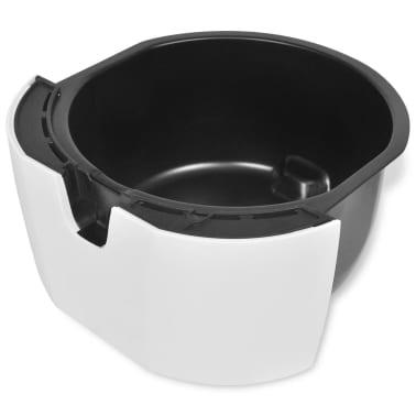 vidaXL Antihaft-Heißluft-Fritteuse Airfryer Edelstahl 3,5 L Fettarm Weiß[6/8]