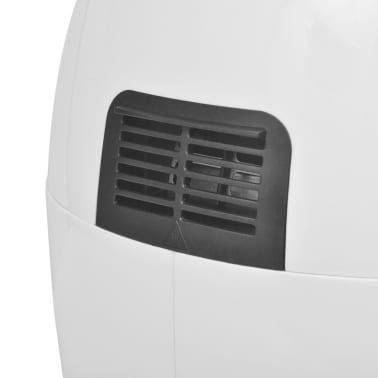 vidaXL Antihaft-Heißluft-Fritteuse Airfryer Edelstahl 3,5 L Fettarm Weiß[8/8]