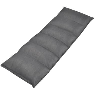 vidaXL Șezlong de podea pliabil 50 x 130 cm, material textil, gri[2/5]