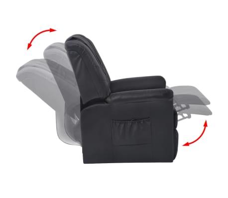 acheter vidaxl fauteuil de massage shiatsu demi pu noir. Black Bedroom Furniture Sets. Home Design Ideas
