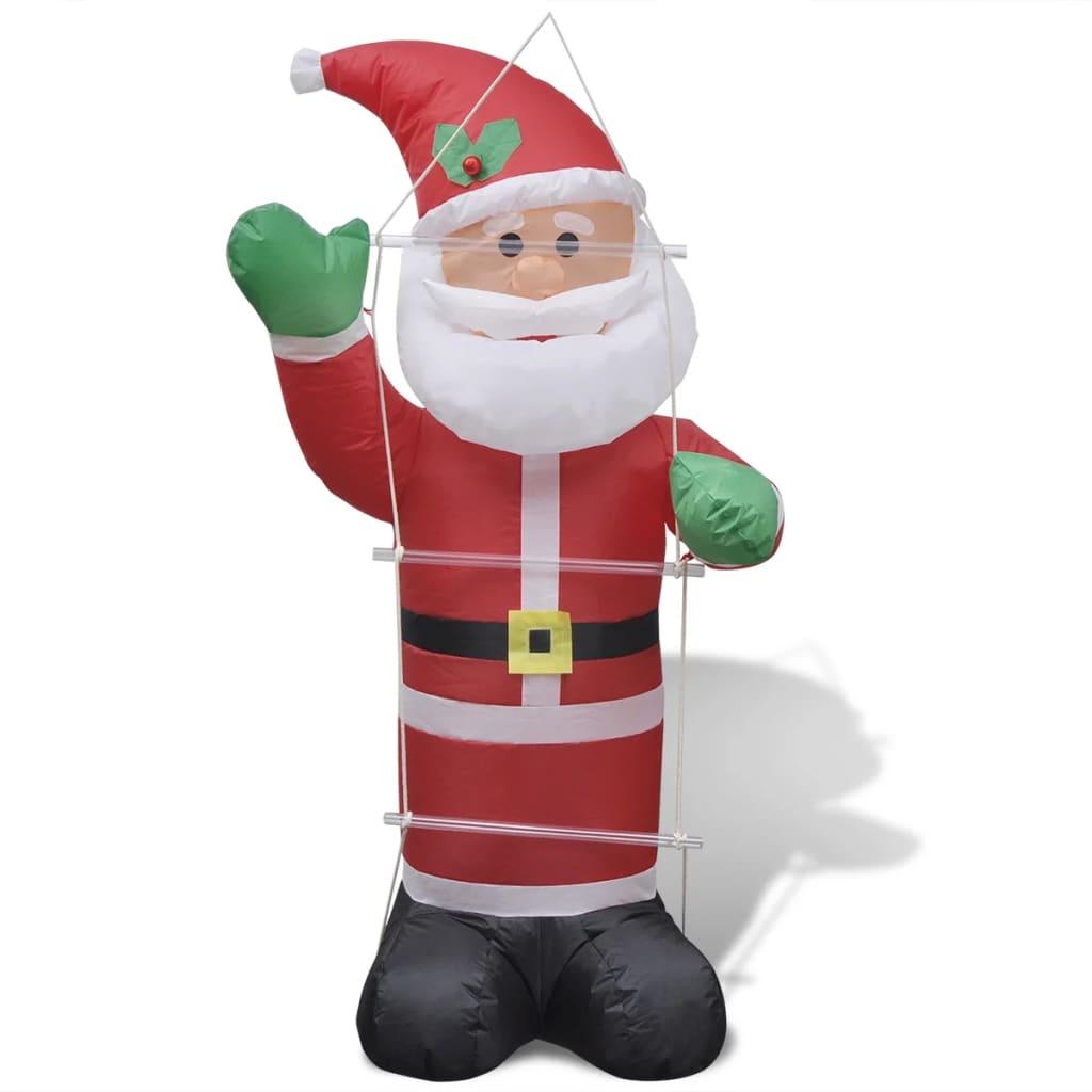 Nafukovací Santa Claus s žebříkem 120 cm