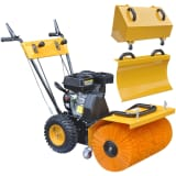 Multifunctional Petrol-powered Two-stage Snow Plough/Sweeper Set 6,5HP