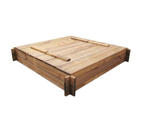Square Impregnated Wooden Sandbox[2/6]