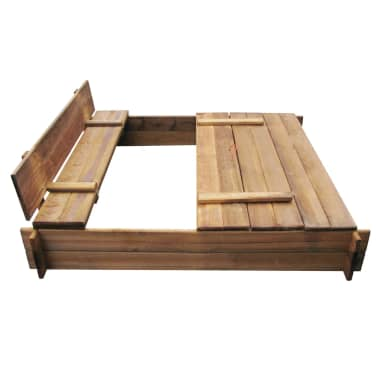 Square Impregnated Wooden Sandbox[4/6]