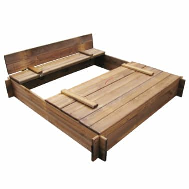 Square Impregnated Wooden Sandbox[5/6]