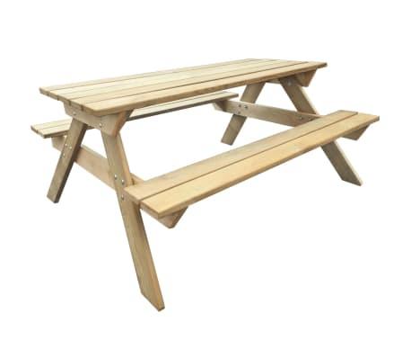 Détails sur vidaXL Table de Pique-nique Bois FSC Table de Jardin Terrasse  Meuble Extérieur