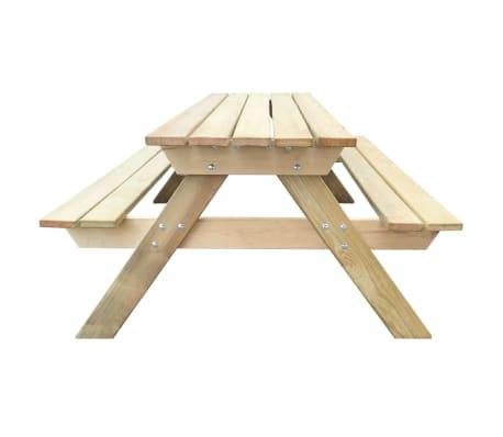 fb9e5fd3916438 Mesa de piquenique de madeira 150 x 135 x 71,5 cm