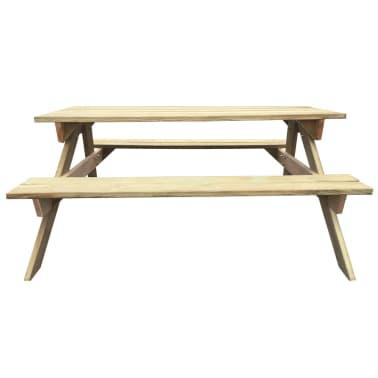 vidaXL Mesa de piquenique 150x135x71,5 cm madeira FSC[2/4]
