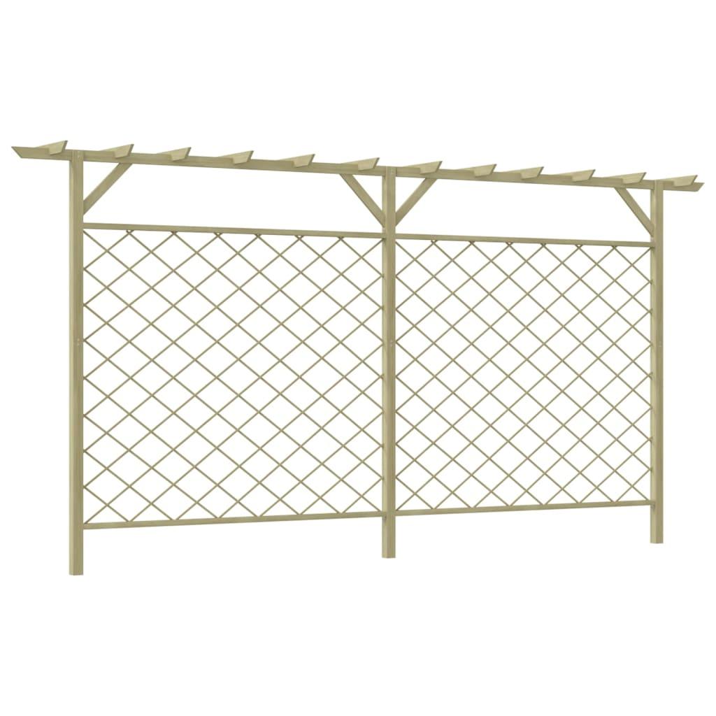Zahradní mřížkovaný plot s pergolou dřevo