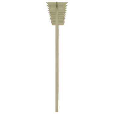 vidaXL Ogrodzenie ogrodowe z kratką i pergolą, drewno FSC[3/3]