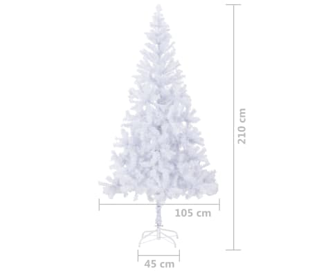 "vidaXL Artificial Christmas Tree with Steel Stand 82.7"" 910 Branches[8/8]"