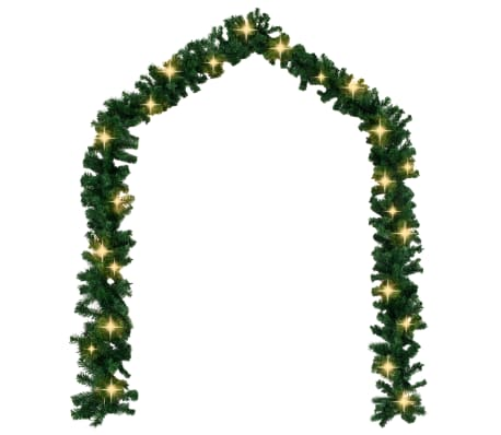 vidaXL Weihnachtsgirlande mit LED-Lichtern 5 m[2/6]
