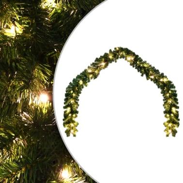 Weihnachtsgirlande mit LED-Lichterkette 10 m[1/6]