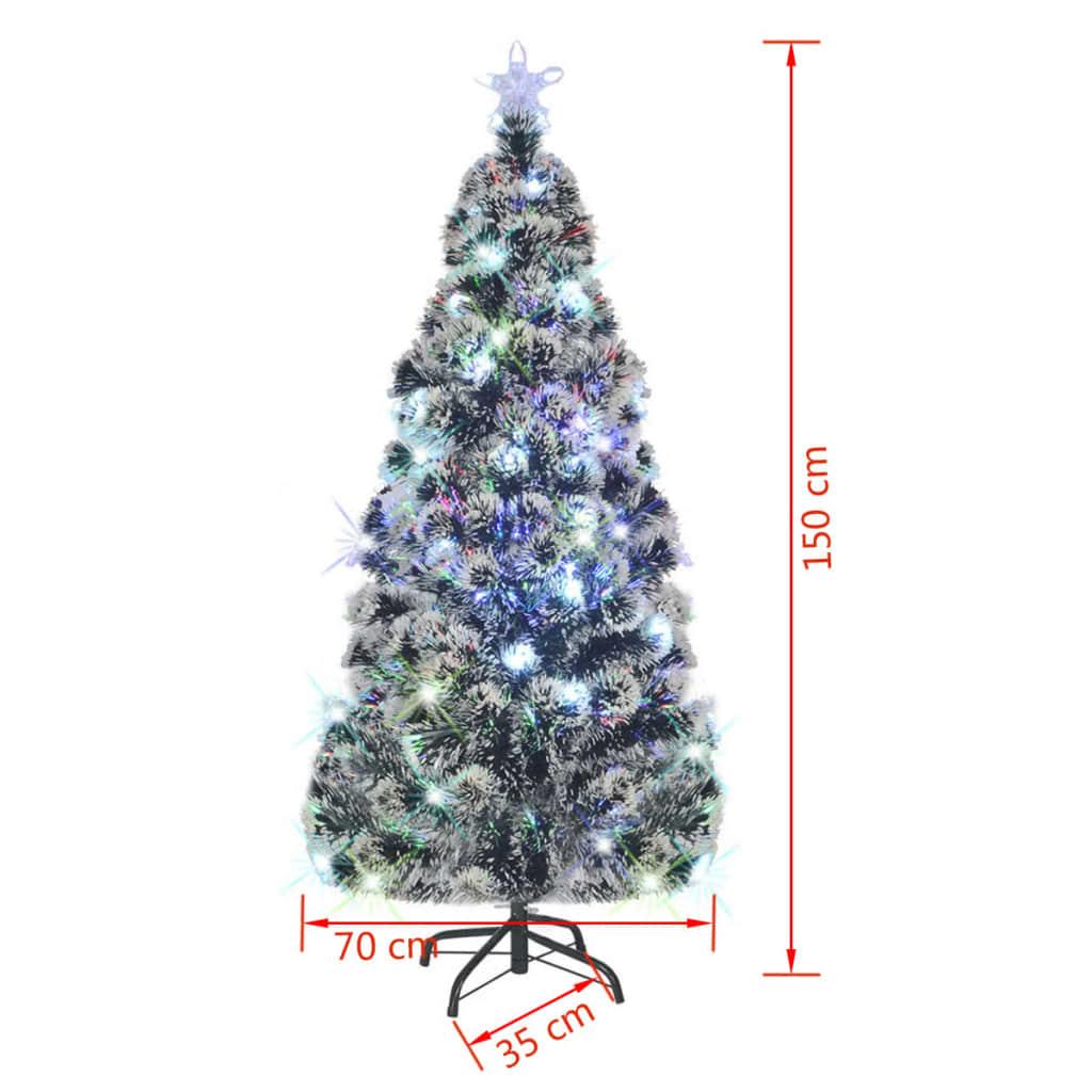k nstlicher weihnachtsbaum tannenbaum christbaum mit led glasfaser 150 180 210cm ebay. Black Bedroom Furniture Sets. Home Design Ideas
