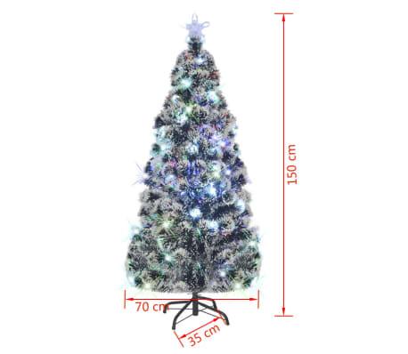 vidaxl kunstkerstboom standaard led verlichting 150 cm 170 takken77