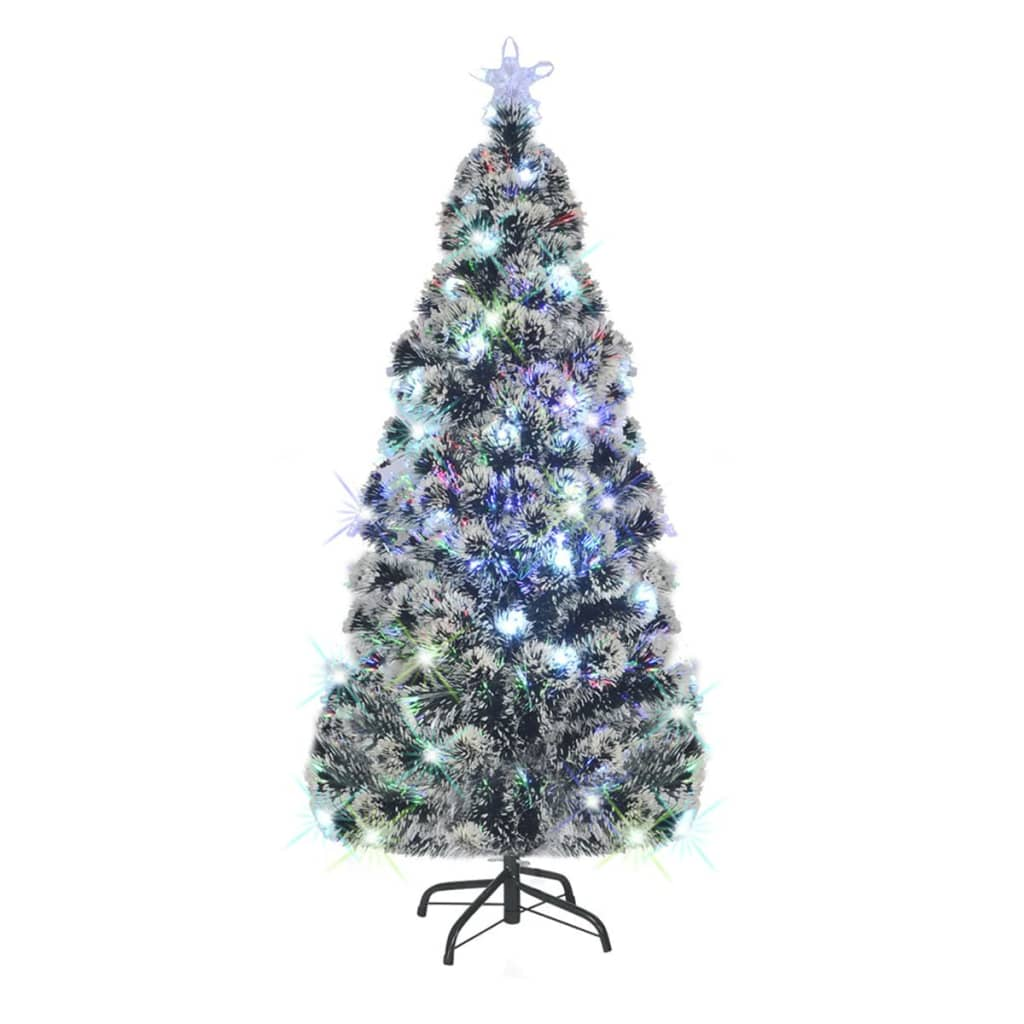 vidaXL Brad de Crăciun artificial cu suport / LED, 180 cm, 220 ramuri poza 2021 vidaXL