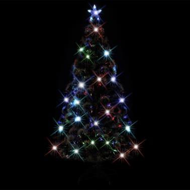 vidaXL Albero di Natale Artificiale con Supporto/LED 180 cm 220 Rami[3/8]