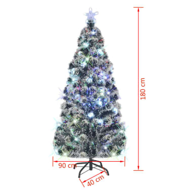 vidaXL Albero di Natale Artificiale con Supporto/LED 180 cm 220 Rami[8/8]
