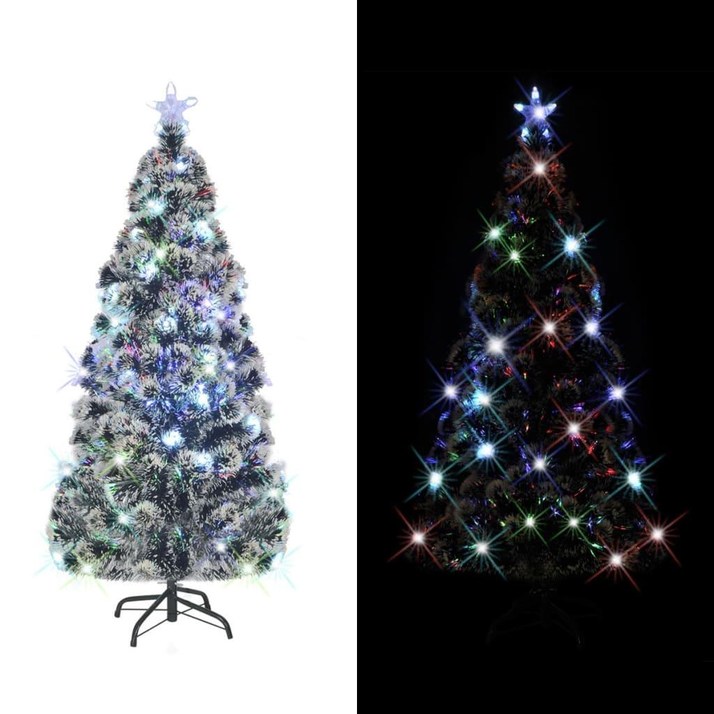 vidaXL Brad artificial de Crăciun cu suport / LED 210 cm 280 ramuri vidaxl.ro