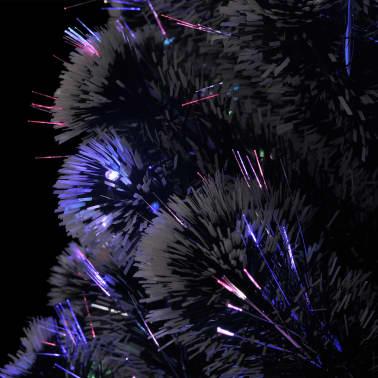 vidaXL Plastgran med fot och LED 210 cm 280 grenar[5/7]