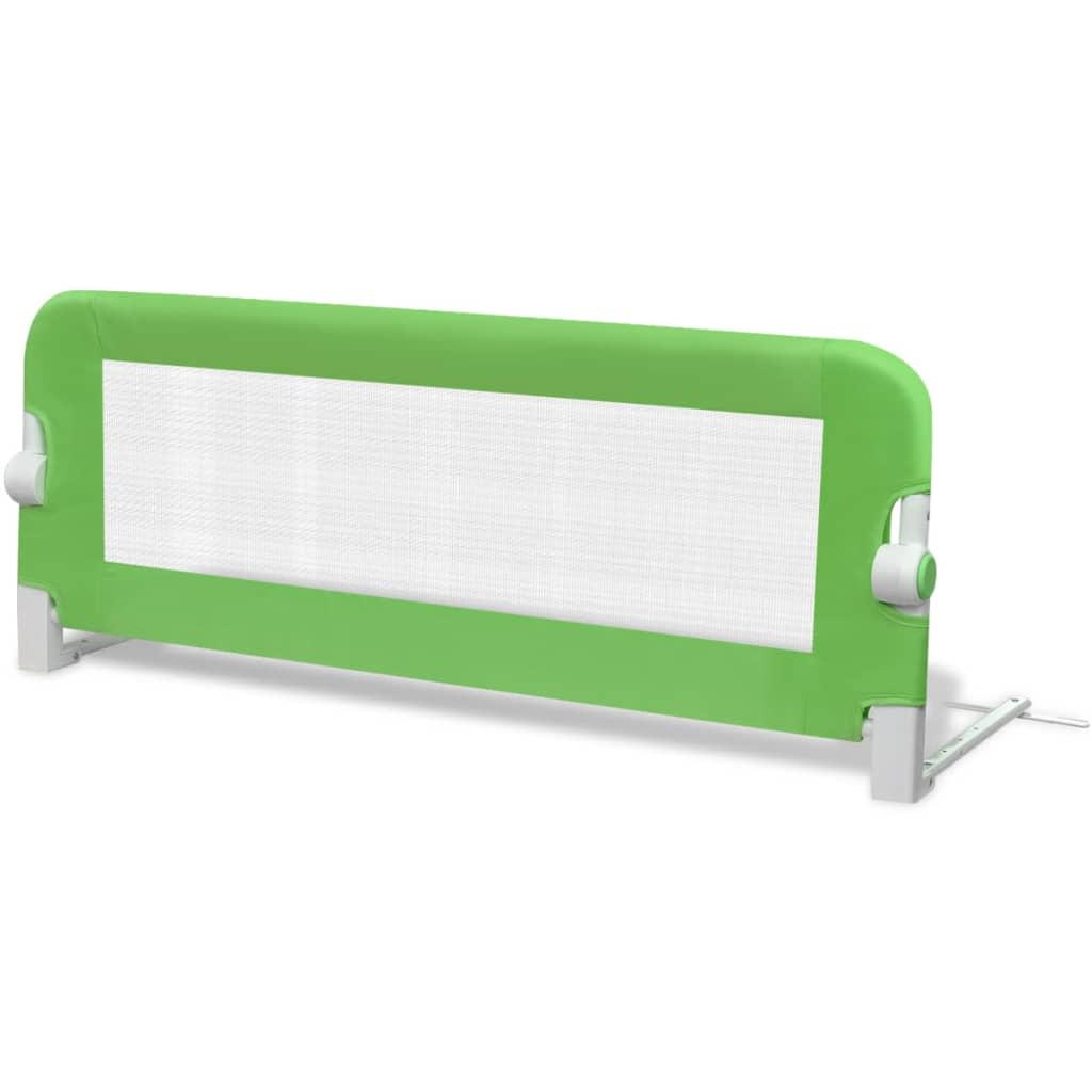 vidaXL Bezpečnostní zábrana k postýlce 102 x 42 cm zelená