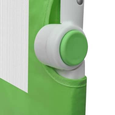 vidaXL Toddler Safety Bed Rail 102 x 42 cm Green[5/5]