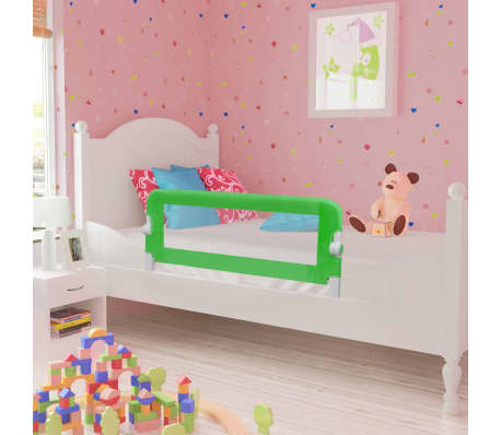 vidaXL Toddler Safety Bed Rail 102 x 42 cm Green[1/5]