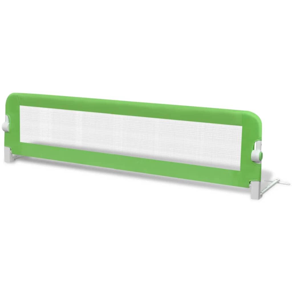 vidaXL Bezpečnostní zábrana k postýlce 150 x 42 cm zelená