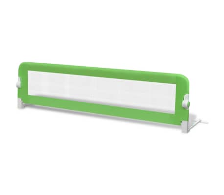 vidaXL Toddler Safety Bed Rail 150 x 42 cm Green