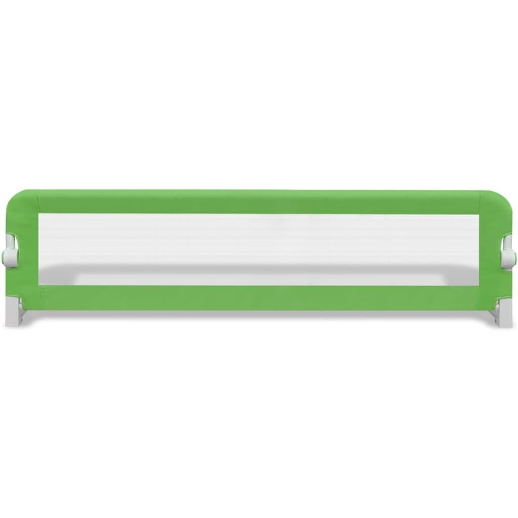 Bezpečnostní zábrana k postýlce 150 x 42 cm zelená