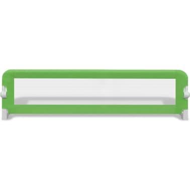 vidaXL Posteljno varovalo za otroke 150 x 42 cm zeleno[3/5]