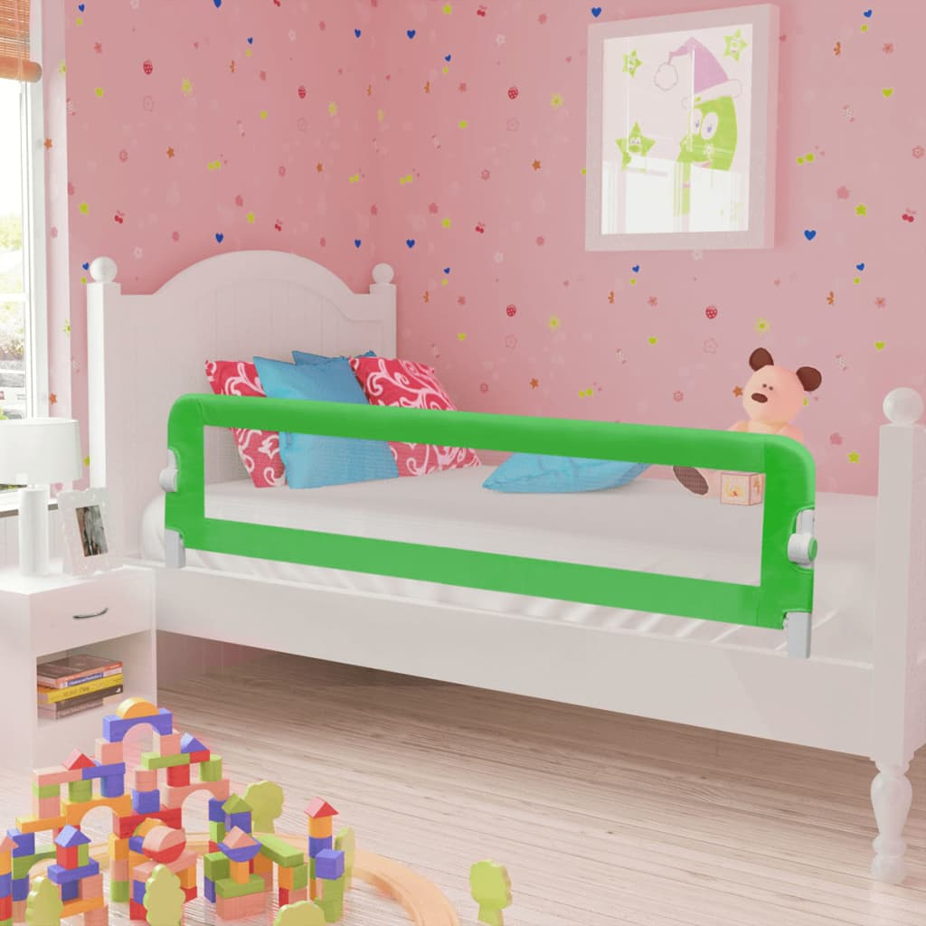 Image of vidaXL 10100 Toddler Safety Bed Rail 150 x 42 cm Green