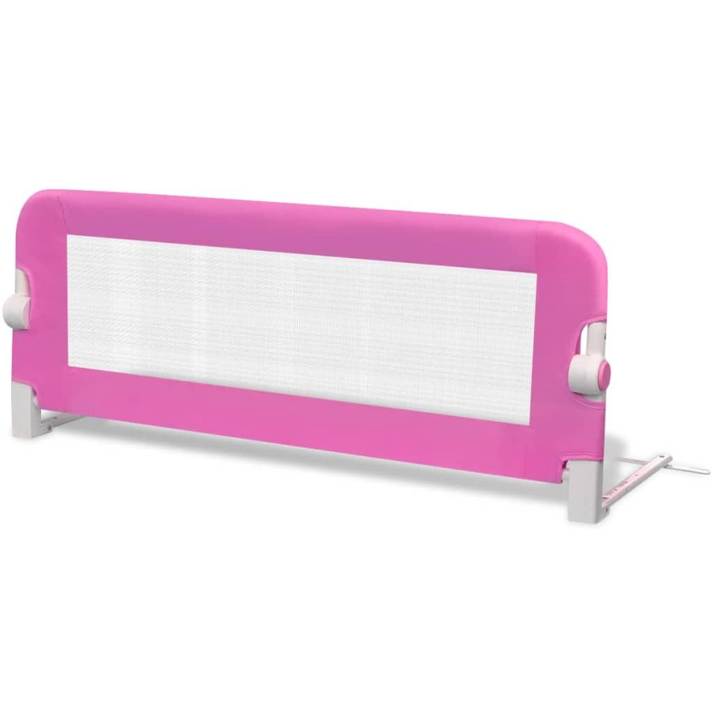 vidaXL Bezpečnostní zábrana k postýlce 102 x 42 cm růžová