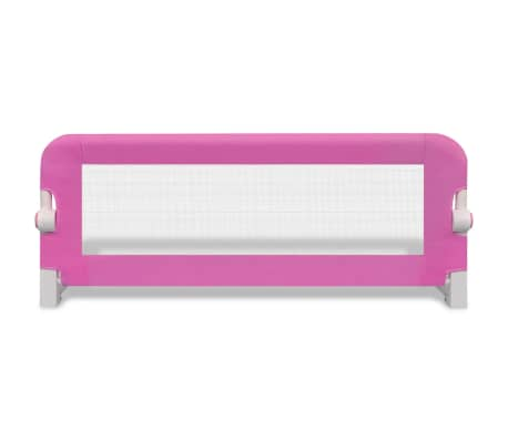 vidaXL Toddler Safety Bed Rail 102 x 42 cm Pink[3/5]