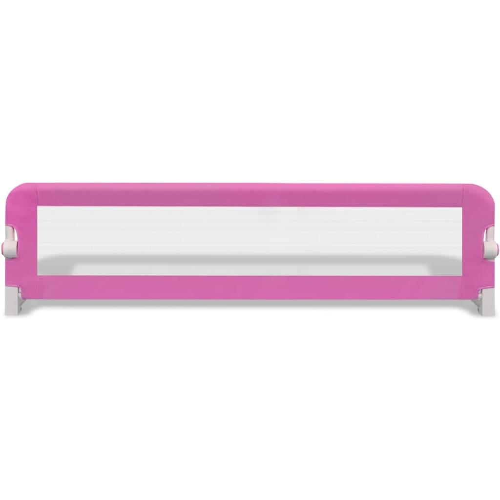Bezpečnostní zábrana k postýlce 150 x 42 cm růžová