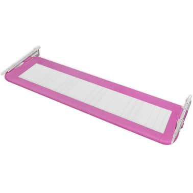 vidaXL Sängskena för barnsäng 150 x 42 cm rosa[4/5]